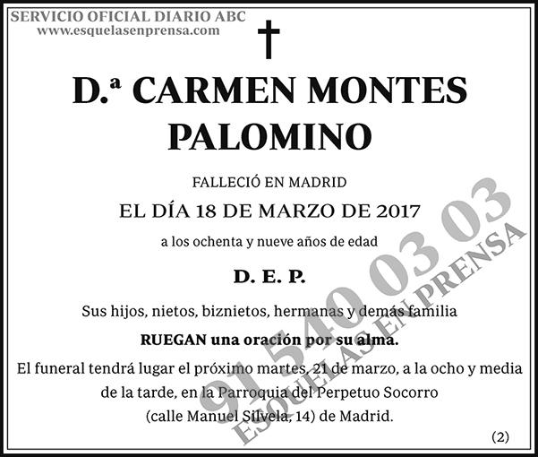 Carmen Montes Palomino